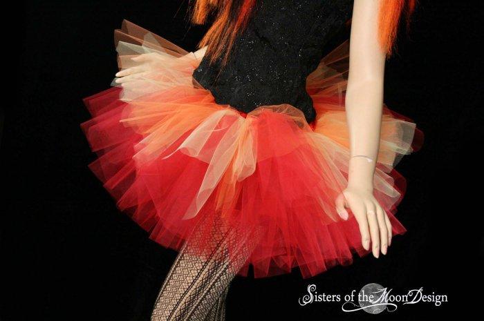Flame dancer adult dance tutu Large