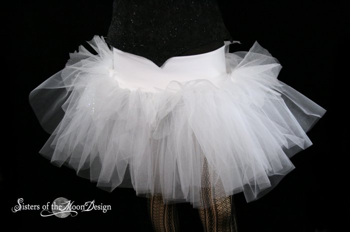 Winter FAiry White and sparkle extra poofy tutu skirt Adult Small