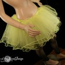 Lemon Frill trimmed extra poofy dance tutu skirt Adult Large