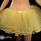 Lemon Frill trimmed extra poofy dance tutu skirt Adult XLarge-PLUS