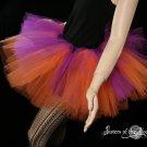 Purple and orange rave adult dance tutu Medium