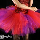 Red and Purple Splash Monster tutu extra puffy adult Small