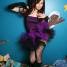 Layered two tone gothic adult dance tutu Black and purple XLarge