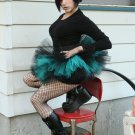 Peek a boo mico mini Black and teal adult tutu XLarge