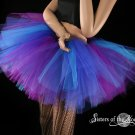 Butterfly tutu extra puffy purple and blue adult XLarge Plus
