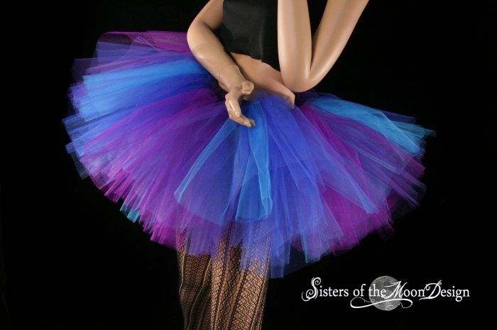 Butterfly tutu extra puffy purple and blue adult Medium