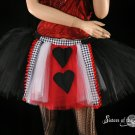 Queen Of Hearts red and black adult tutu medium