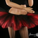 Peek a boo mico mini Black and red adult tutu large