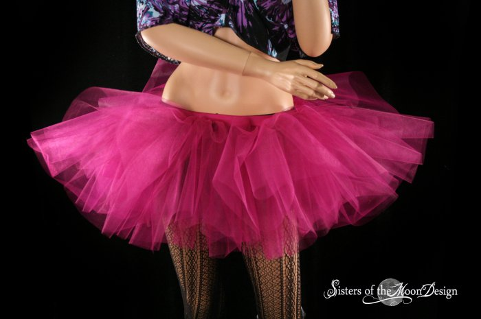 Fuchsia adult tutu skirt petticoat Small