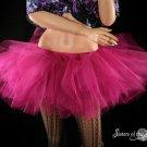 Fuchsia adult tutu skirt petticoat Small