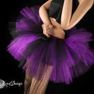 Two Tone Three tier tutu black and purple Adult XLarge-Plus