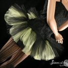 Peek a boo mini black and yellow tutu skirt Adult Large