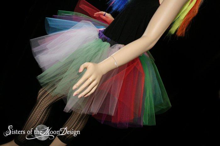 Lighter random Rainbow extra poofy tutu skirt Adult XLarge Plus