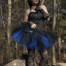 Layered two tone gothic adult dance tutu Black and royal blue Small