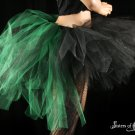 Bustle Toxic streamer black and green tutu skirt Adult XLarge-Plus