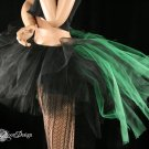 Bustle Toxic streamer black and green tutu skirt Adult Small
