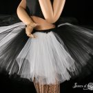 Black and White Monster dance tutu Adult petticoat XLarge-Plus