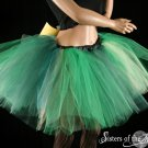 leprecon tutu extra puffy Green and gold adult XLarge Plus
