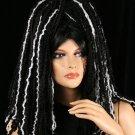 Black Hole black and white yarn  hair falls