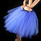 Royal blue Romance extra poofy knee length tutu skirt petticoat Adult small
