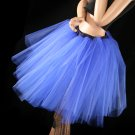 Royal blue Romance extra poofy knee length tutu skirt petticoat Adult medium