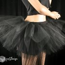 Midnight black extra poofy tutu skirt Adult With Underskirt petticoat Large