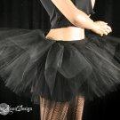 Midnight black extra poofy tutu skirt Adult With Underskirt petticoat XLarge