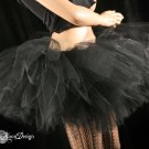 Ultimate Midnight black extra extra poofy tutu skirt Adult petticoat XLarge-Plus