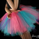 Cotton Candy Extra puffy pink, purple and turquoise adult petticoat Small