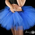 Royal Blue extra poofy adult tutu petticoat XLarge-Plus