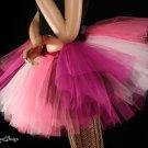 Medium Iced Rose tutu skirt Extra puffy pinks and black adult
