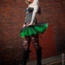 Peek a boo mini black and green tutu skirt Adult XLarge-Plus
