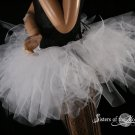 XLarge snow White Trashy petticoat tutu dance skirt Extra puffy adult three layer dance costume