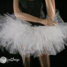 Small snow White Trashy petticoat tutu dance skirt Extra puffy adult three layer dance costume