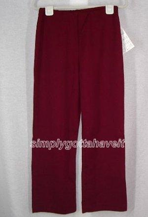 Lauren Sara Classics Flat Front Pull-on Pants Small