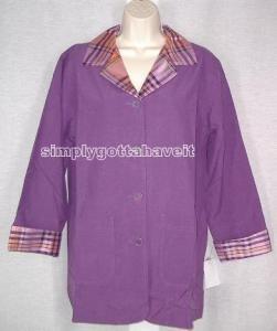 Jessica Holbrook Reversible Silk Jacket Small