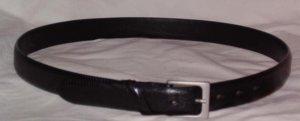 Novia black lizard grain leather belt Italy size 36