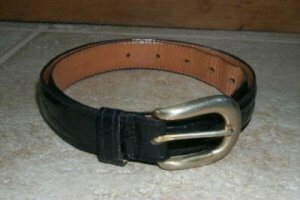 Women's Leather Belt by Omega Belt Buckle Size Small