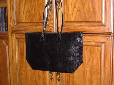 Faux Snakeskin Shopper Tote in black from Signature Club A
