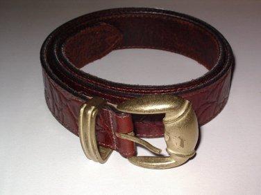 Genuine Leather Belt Women's size Medium Reddish Brown SALE