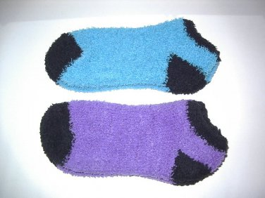 Fuzzy Warm Womens Slipper Socks Ladies Girls 2 pair