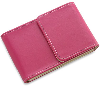 BRAND NEW Pink Leather Stitchie Card Case