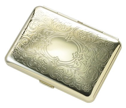 Brand new Gold Floral Pattern Metal Wallet