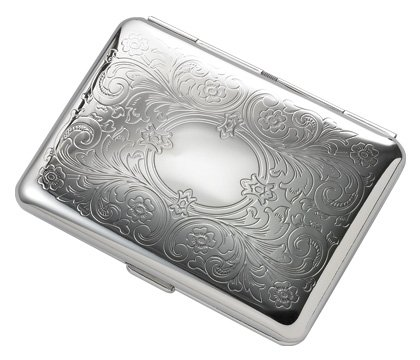 Brand new Silver Floral Pattern Metal Wallet