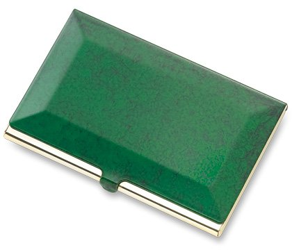 Brand New Green Marble Business & Credit Card Holder