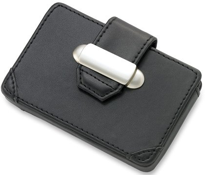 Black Business Card Case w/ Latch BRAND NEW