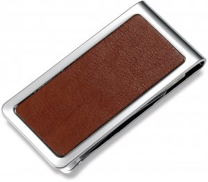 Brand New BrownLeather Money Clip