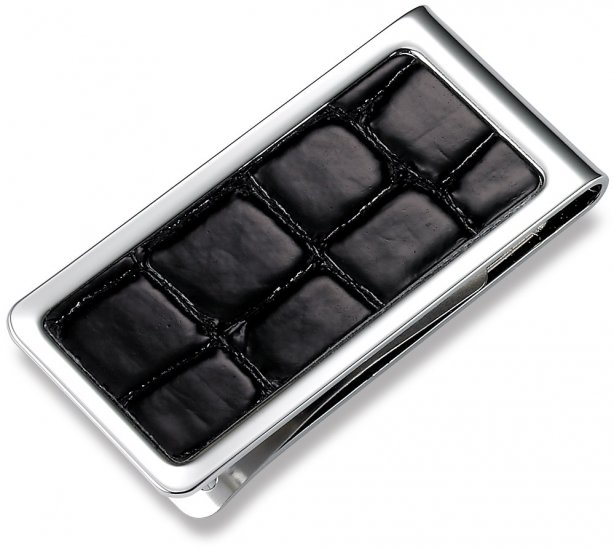 Brand New Black Crocodile Texture Money Clip