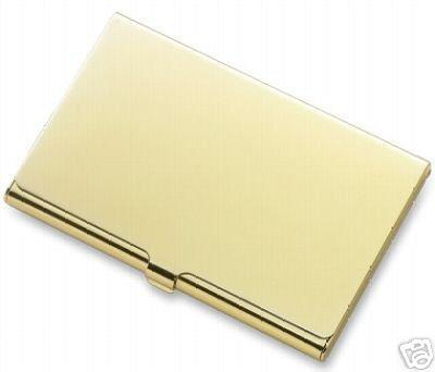 Gold Color Elegant Business Card Case