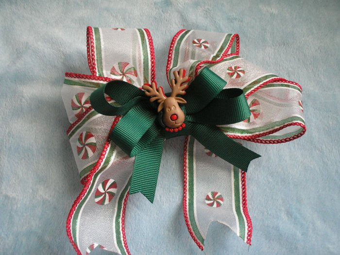 Rudolph Christmas Boutique Girls Hairbow